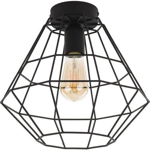 Tklighting Plafon lampa druciana sufitowa diament tk lighting diamond 1x60w e27 czarny 2297 (5901780522971)