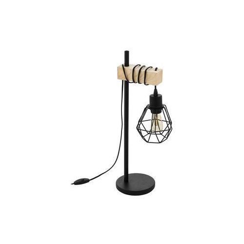 Eglo 43136 - lampa stołowa townshend 1xe27/60w/230v (9002759431365)