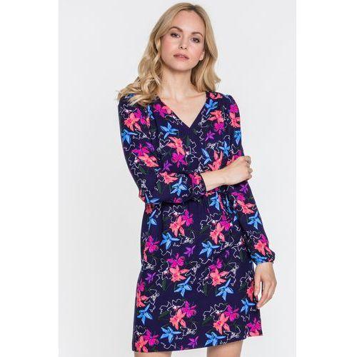 Kwiecista sukienka z dekoltem w serek - marki Emoi