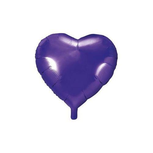 Balon foliowy Serce fioletowe - 45 cm - 1 szt.