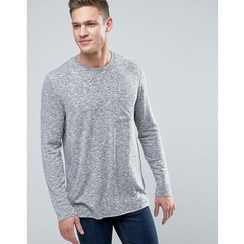 New Look Jumper With Cut And Sew Pocket In Grey - Green