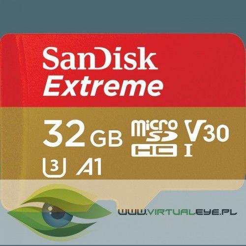 Karta pamięci SANDISK EXTREME microSDHC 32GB 100/60 MB/s A1 C10 V30 UHS-I U3
