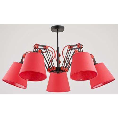 Żyrandol lampa wisząca zwis oprawa Alfa Anakin Red 5x40W E14 czarny czerwony 22575, 22575