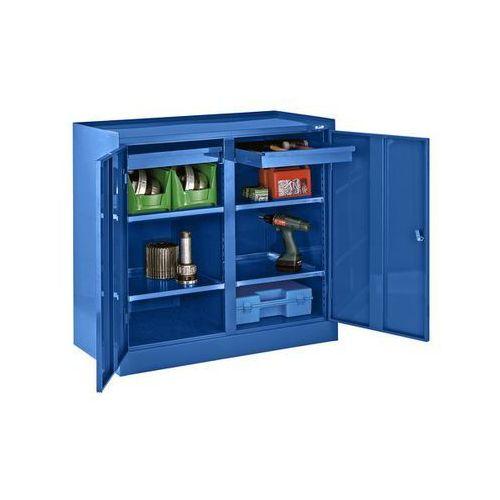 Szafa na narzędzia,ze ścianką działową, 2 szuflady, 4 półki marki Quipo