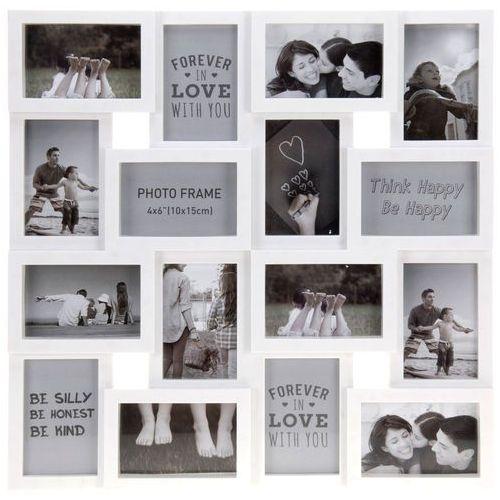 Ramka na zdjęcia, 16 zdjęć - galeria, 8711295885983-biały