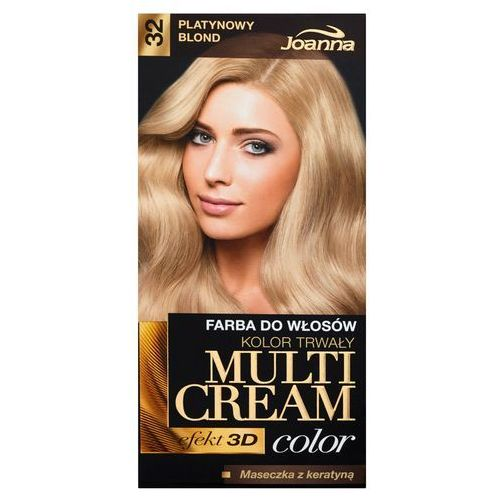 Farba do włosów Joanna Multi Cream Color naturalny blond 33, kolor blond