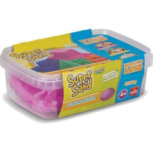 Piasek do modelowania super sand color różowy 83248 marki Goliath