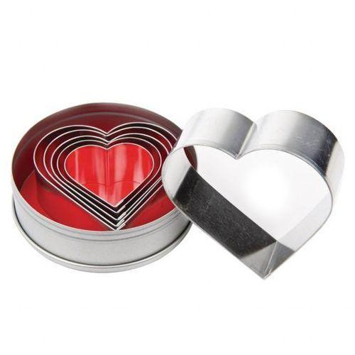 Vogue Zestaw wykrojników w kształcie serca | 6 elementów. Najniższe ceny, najlepsze promocje w sklepach, opinie.