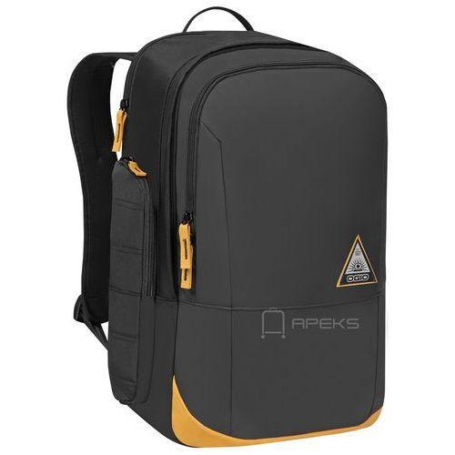 Ogio clark plecak miejski na laptopa 16'' / czarno - pomarańczowy - black / matte