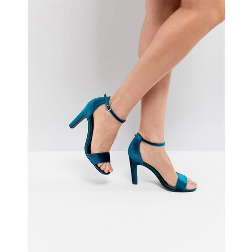New Look Velvet 2-Part High Heel Sandal - Green