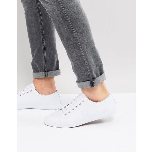 Fred Perry Kingston Leather Plimsolls In White - White