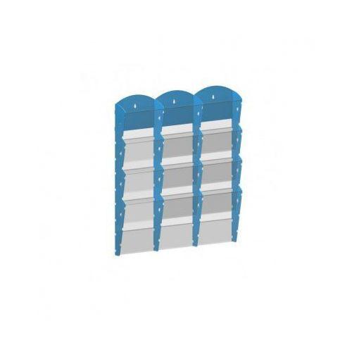 B2b partner Plastikowy uchwyt ścienny na ulotki - 3x4 a5, niebieski