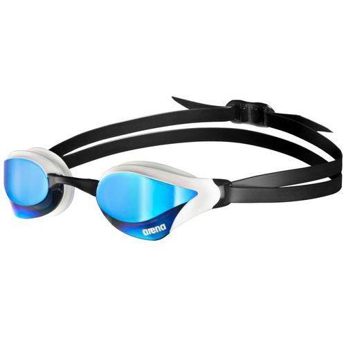 arena Cobra Core Mirror Okulary pływackie niebieski/biały Okulary do pływania z kategorii Okularki pływackie