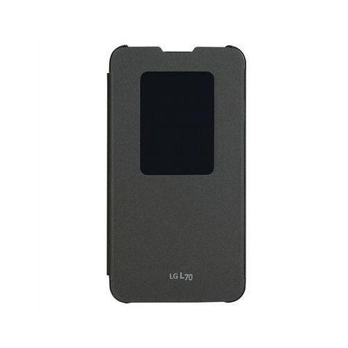 Etui LG QuickWindow do LG L70 Czarny, kolor czarny