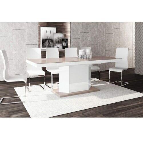 Stół rozkładany AMIGO 160-256 Cappuccino-biały połysk, HS-0085
