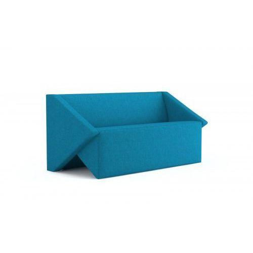 Sofa Linara 158cm niebieska, kolor niebieski