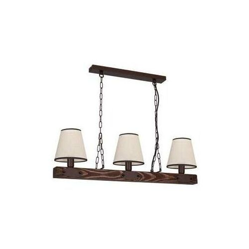 Luminex carin 1272 lampa wisząca zwis 3x60w e27 brązowy dąb (5907565912722)