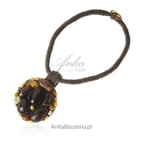 43b50d5db9664a Biżuteria artystyczna z naturalnym bursz... Kolor pomarańczowy; Kamień  bursztyn