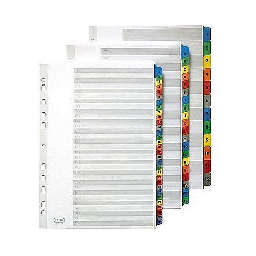 Przekładki kartonowe a4 a-z białe 100204595 marki Elba