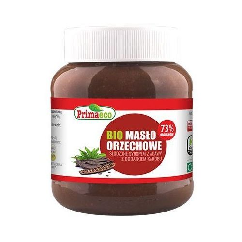 Primaeco Bio masło orzechowe słodzone syropem z agawy z dodatkiem karobu 340g primavika