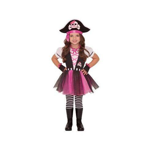 Kostium Różowa Piratka dla dziewczynki - 3/5 lat (104), kolor różowy