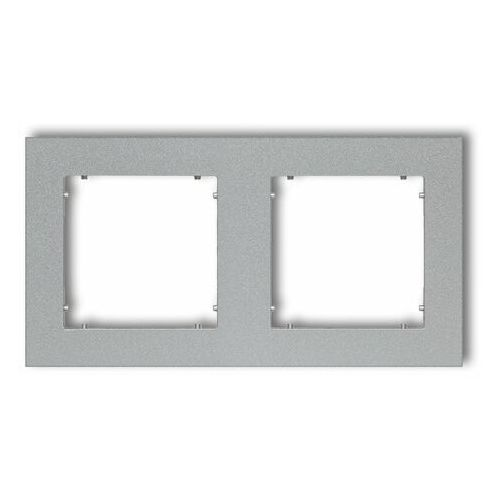 Ramka podwójna Karlik Mini 7MR-2 srebrny metalik, kolor srebrny