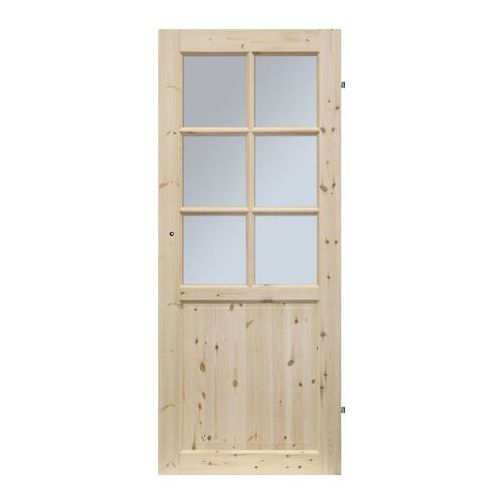 Drzwi pokojowe Radex Lugano 90 prawe sosna surowa (5907592284731)