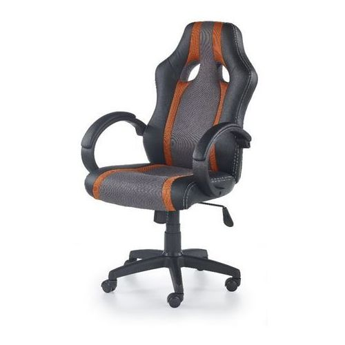 Origin fotel gamingowy dla graczy popielato-pomarańczowy marki Style furniture