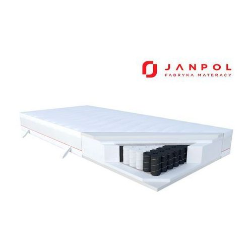 Janpol cora – materac kieszeniowy, piankowy, rozmiar - 160x190, pokrowiec - silver protect najlepsza cena, darmowa dostawa (5906267419171)