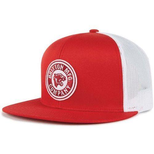 czapka z daszkiem BRIXTON - Forte Mp Mesh Cap Red/White (RDWHT) rozmiar: OS, kolor czerwony