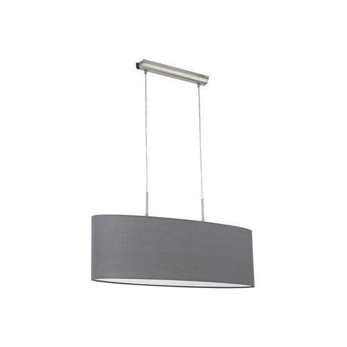 Lampa wisząca Eglo Pasteri 31582 z abażurem 2x60W E27 szara, kolor Szary