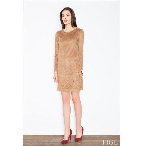 Sukienka Model M455 Brown, kolor brązowy