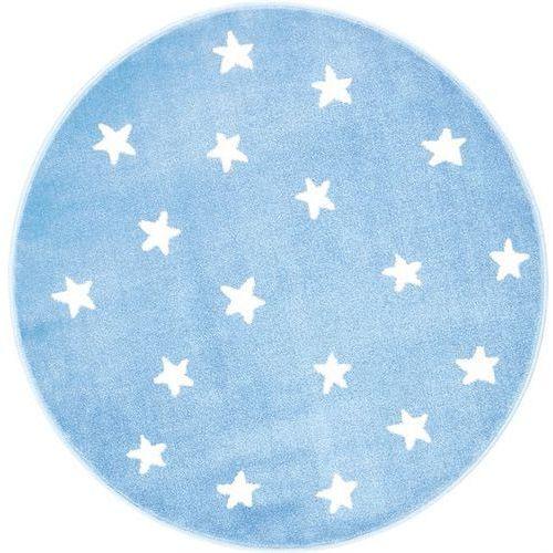 Agnella Dywan soft gwiazdy azure/lazur (koło) 80x80