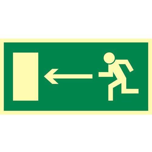"""Top design Znak ewakuacyjny """"kierunek do wyjścia drogi ewakuacyjnej w lewo"""""""