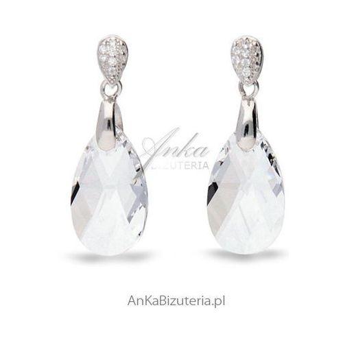 Kolczyki srebrne swarovski marki Anka biżuteria