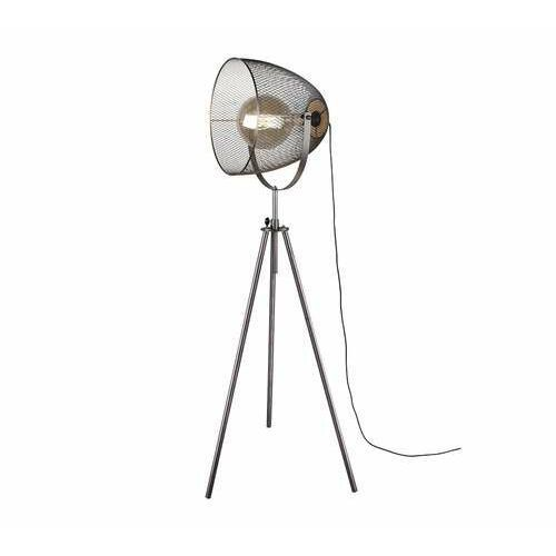 ivar 409000167 lampa stojąca podłogowa 1x40w e27 niklowa/drewniana marki Trio