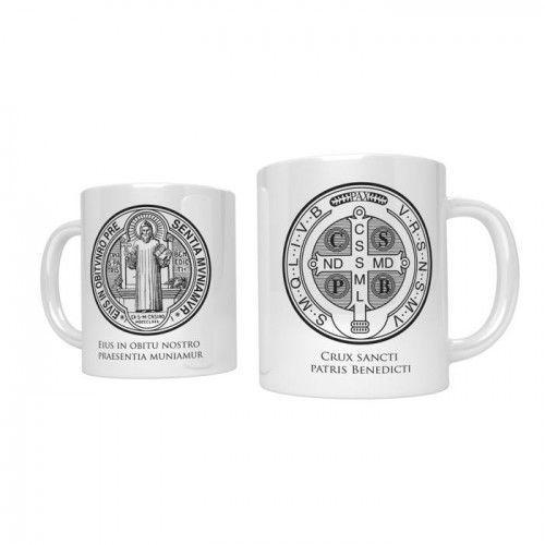 Kubek religijny z medalem św. benedykta marki Produkt polski