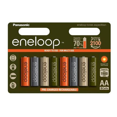 8 x akumulatorki Panasonic Eneloop Tones Expedition R6/AA 2000mAh (blister)