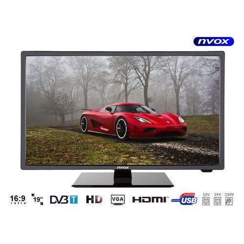 "Nvox 19c510b telewizor led 19"" dvb-t/c usb hdmi vga mpeg-4/2 12v 24v 230v (5909182425067)"