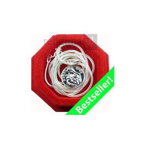 Medalik Św. Rity z łańcuszkiem - srebrny - OKAZJE
