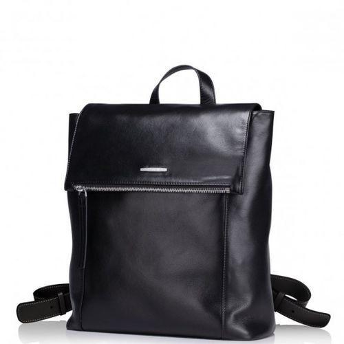 Elegancki skórzany męski plecak podróżny czarny marki Sammons