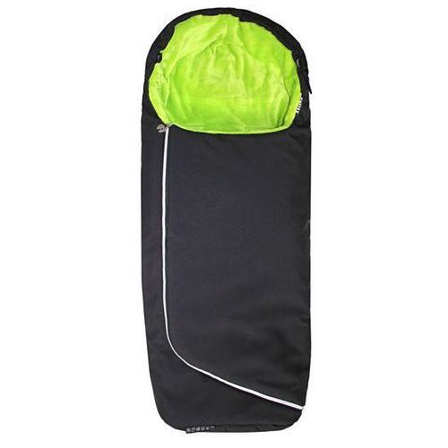 Emitex śpiworek do wózka ALPINO - czarny + limonkowy (8595624429105)