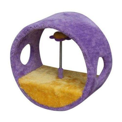 Yarro drapak dla kota mini-rolka z kwiatkiem fioletowo-żółta