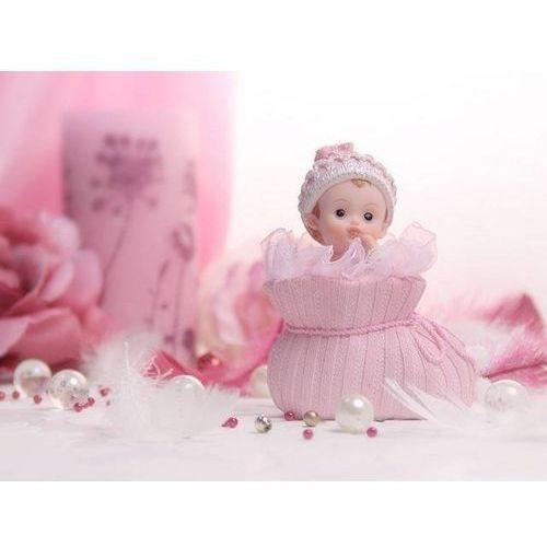 Party deco Figurka dziecko w różowym bucie - 10,5 cm (5901157428189)