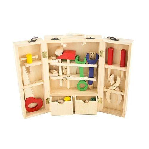 Drewniany skrzynka z narzędziami zabawka edukacyjna