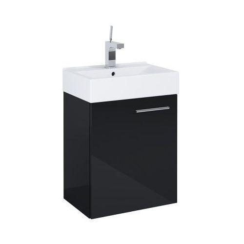 Elita szafka tiny black + umywalka 45 white 165794 (5907546840921)