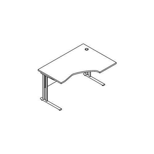 Biurko kątowe bm25 wymiary: 137x100x75,8 cm marki Svenbox