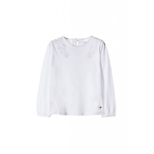 Bluzka dziewczęca biała 3H3552, kolor biały