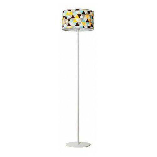Lampa podłogowa z okrągłym kolorowym abażurem - EX495-Hestix, lampex_884/ST A