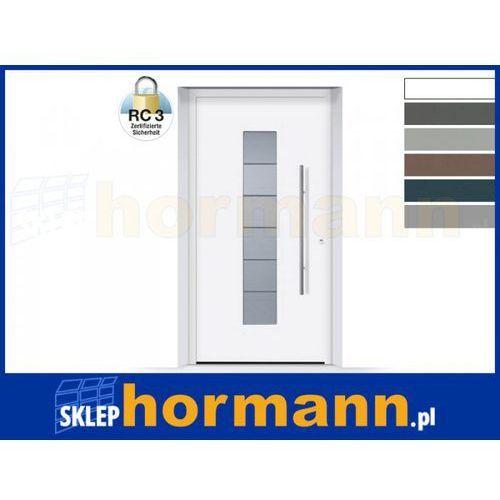 Drzwi aluminiowe ThermoSafe 2018, Wzór 504, kolor do wyboru, przeciwwłamaniowe RC 3
